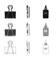 isolated object of office and supply icon set of vector image vector image