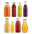 juice bottle glass isolated on white background vector image