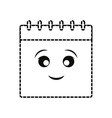 kawaii notepad icon vector image vector image