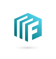 Letter F document logo icon design template
