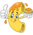 macaroni and cheese cartoon character vector image vector image