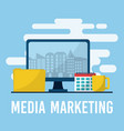 media marketing business concept vector image vector image