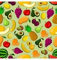 Mixed fruits seamless pattern for farming design vector image vector image