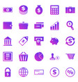 money gradient icons on white background vector image