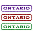 ontario watermark stamp vector image vector image