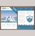 outdoors flyer design with mountains landscape vector image vector image