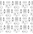 Pattern of smart gadgets vector image vector image