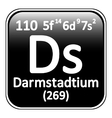 Periodic table element darmstadtium icon vector image vector image