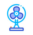 portable air fan cooling equipment icon vector image