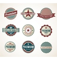 Premium Labels vector image