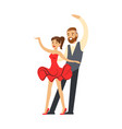 professional dancer couple dancing in costumes vector image vector image