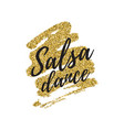 salsa party logotype vector image vector image