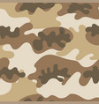 seamless set camouflage desert pattern vector image