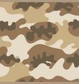 seamless set camouflage desert pattern vector image