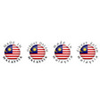 simple made in malaysia malaysian translation 3d vector image vector image