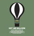 Single Hot Air Balloon Isolated vector image
