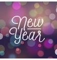 slogan bokeh xmas new year vector image vector image