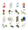 sport shop isometric icons vector image vector image