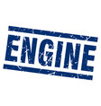 square grunge blue engine stamp vector image vector image