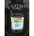 Tom Collins cocktail chalk vector image vector image