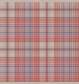 vintage plaid fabric texture seamless pattern vector image vector image