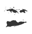 Virgin Islands of the United States map silhouette vector image vector image