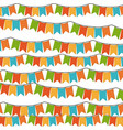 white background with set of colorful festoons in vector image vector image