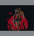 wild warrior barbarian vector image vector image