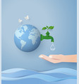 wolrd water day vector image vector image