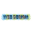 Word web design vector image