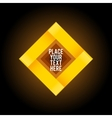 Yellow square shape on dark background vector image vector image