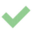 yes halftone icon vector image vector image
