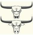 bull s head and skull vector image