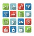 Wireless Communication Network Icons Set vector image