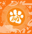 2018 year of dog food print over chinese pattern vector image vector image