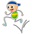 A little boy running vector image