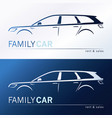 a minivan family car vector image