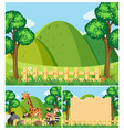 background templates with cute animals in the vector image vector image