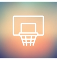 Basketball hoop thin line icon vector image vector image