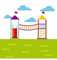 beautiful children playground icon vector image vector image