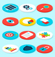 big data analytics isometric icons vector image vector image