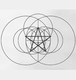 birth of a pentagram vector image vector image