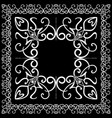 black and white frame and tile design with ornate vector image vector image
