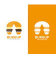 burger and arrow up logo combination vector image