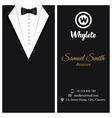 business card Black tuxado vector image vector image