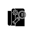 business intelligence black icon sign on vector image vector image