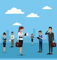 business people outside cartoon vector image vector image