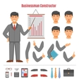 Businessman constructor set vector image vector image