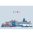 Cannes France City Skyline Background Flat vector image vector image