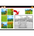 Cartoon deer jigsaw puzzle game